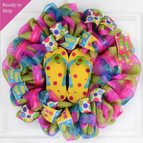 d5ae579ad Summer Flip Flop Wreath