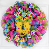 Summer Flip Flop Wreath | Spring Front Door Decor | Yellow Pink Blue Green