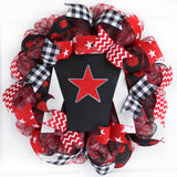Kentucky Derby Wreath | Jockey Silk Decor | Horse Racing Gift | Red Black White