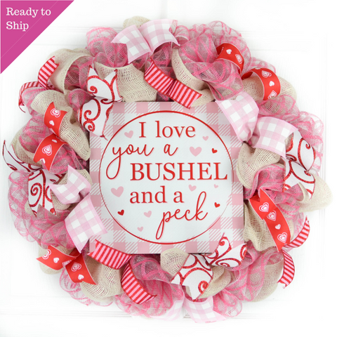 Bushel and a Peck Valentine's Day wreath