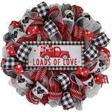 Buffalo Plaid Valentines Wreath - Loads of Love - Valentine's Day Decor