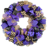Halloween Wreaths | Welcome or Monogram Door Wreath