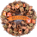 Welcome Fall Thanksgiving Wreath - Happy Autumn Front Door Wreath