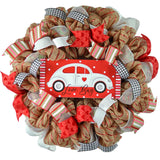Love Bug Valentines Wreath - Valentine's Day Decor - Pink Door Wreaths