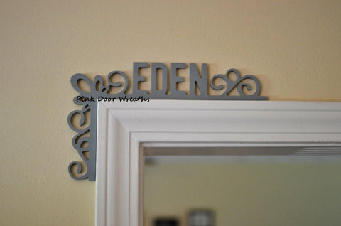 Girls Bedroom Nursery decor | Name Sign Over the Door | Baby Shower Gift