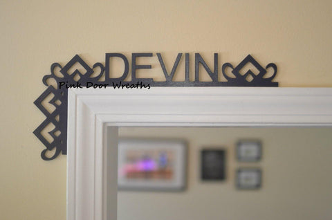 Boys Nursery Bedroom Decor | Baby shower gift | Over the Door Name