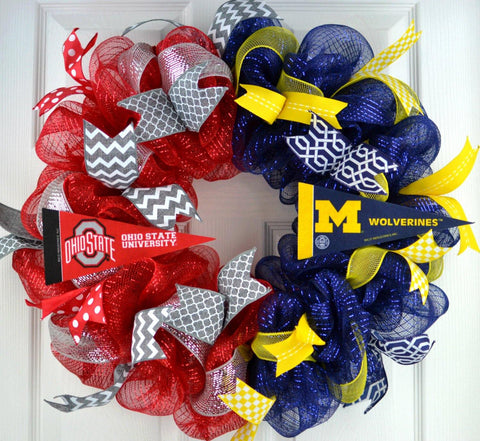 House divided football wreath