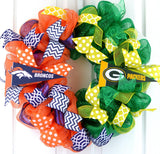 House Divided football wreath - Pink Door Wreaths
