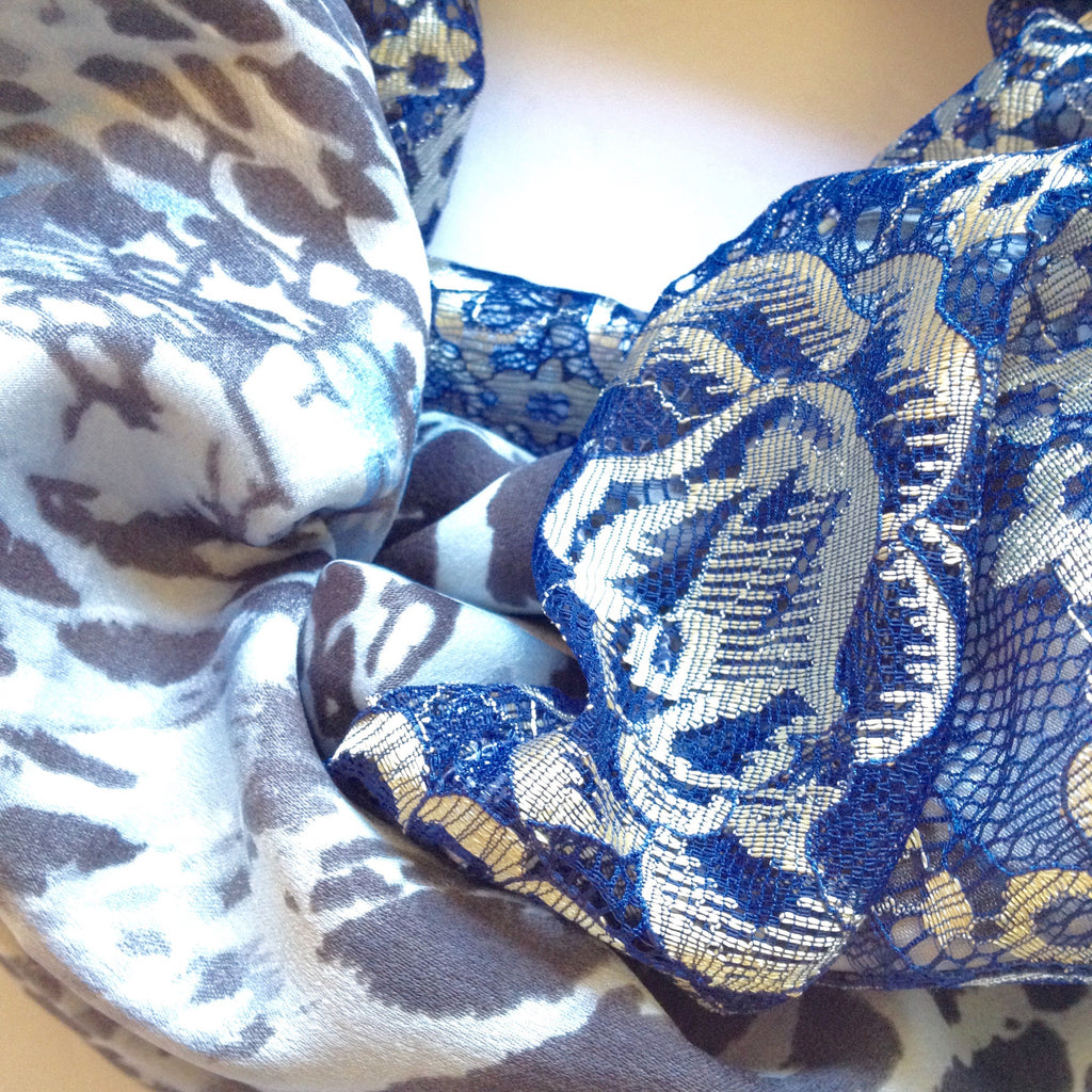 Blue leopard and lace