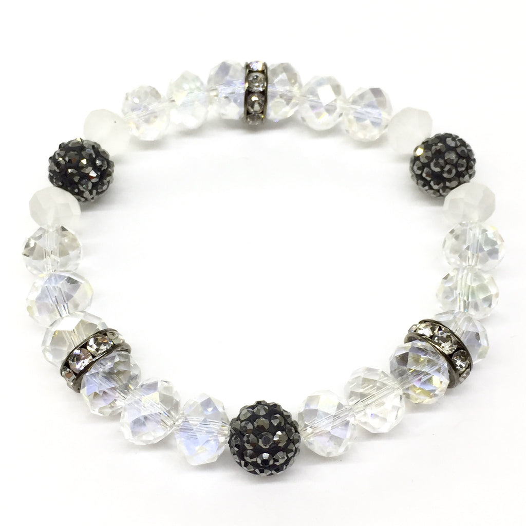 Black\white Crystal bracelet