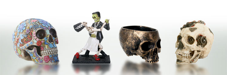 A great collection of gifts inspired by the human skeleton! Skull replicas, Day of the Dead Statues and Figurines, and much more! These make great gifts for ...