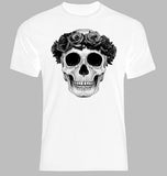 Flower Skull White T-Shirt