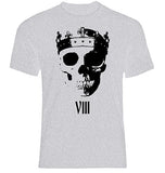 Crowned Skull Sport Grey T-Shirt
