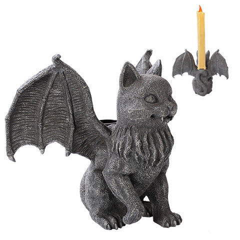 Vampire Cat Gargoyle Candle Holder