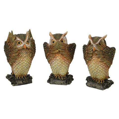 Owl See Hear Speak No Evil