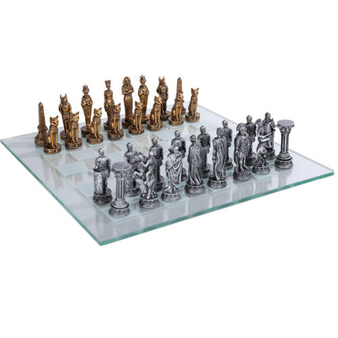 Egyptian Vs Roman Chess Set