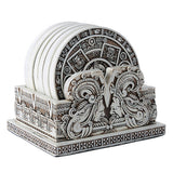 Aztec Coaster Holder w/ six coasters