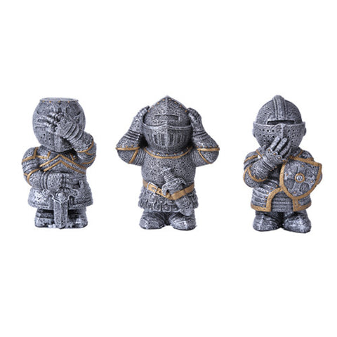 No Evil Knights Set of 3