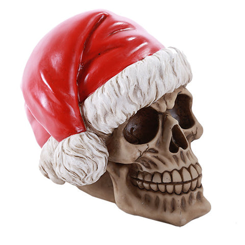 Santa Skull Money Bank