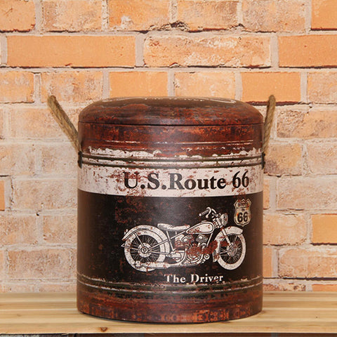 Rout 66 Bike Storage Stool Set 2