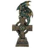 Celtic Cross Dragon w LED Light
