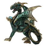 Dragon Holding Crystal Orb Figurine