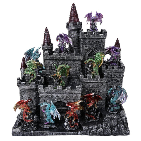 12 PC Dragon Set with Castle Display