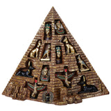 12 PC Egyptian Set w Pyramid Display