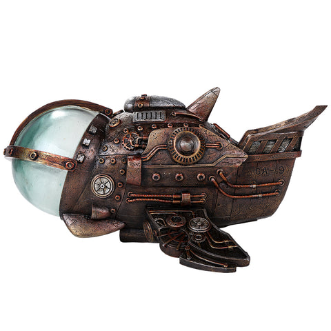 Steampunk Space Ship w LED Light