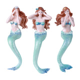 Hear See And Speak No Evil Mermaids Shelf Sitters