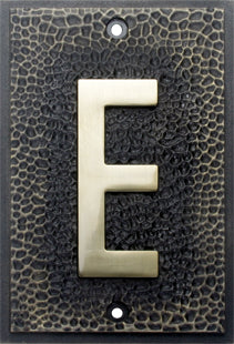 FLW ZINC ALLOY HOUSE NUMBER E
