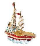 2 Mast Ship Jeweled Box