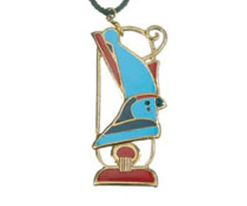 "Horus with Crown Pendant - Brooch with 26"" Cord"