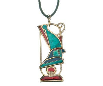 Horus with Crown Pendant  Brooch with 26""