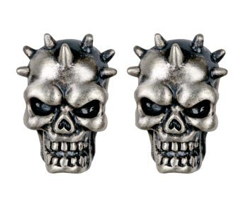 Spike Skull Stud Earrings