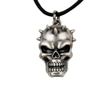 Spike Skull Head Pendant