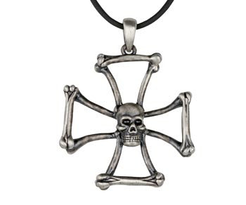 Iron Cross Skull Pendant