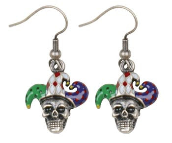 Skull Jester Earrings