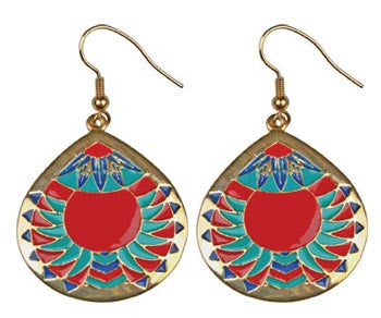 Chevron Medallion Earrings