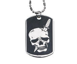Dagger Skull Dog Tag