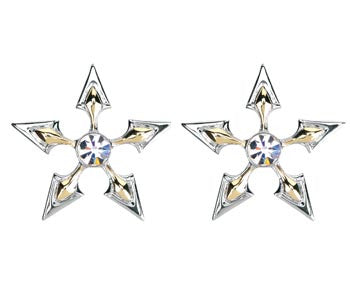 Two Tone Star Studs