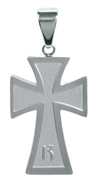 Lucky 13 Cross Pendant