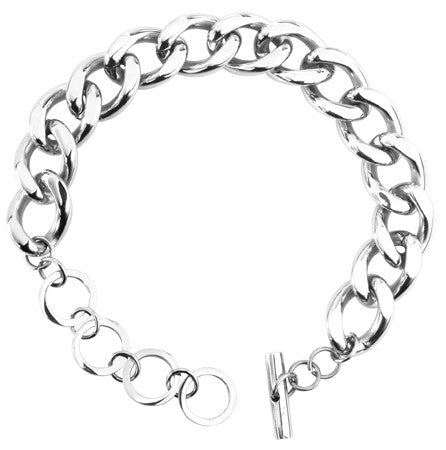 "1/2"" Curbed Chain Bracelet"