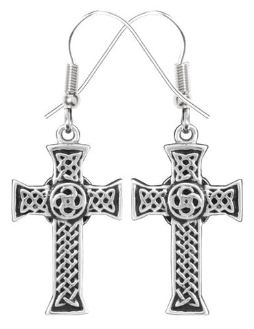 Celtic Cross Earrings 316L