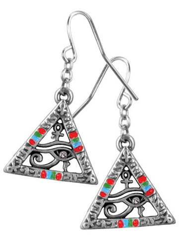 Pyramid Wedjat Earrings