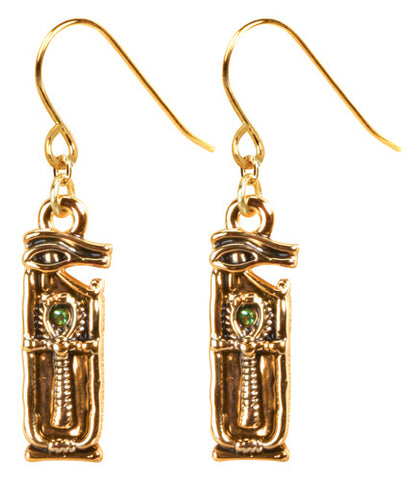 Wedjat Ankh Earrings