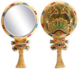 Egyptian Floral Mirror