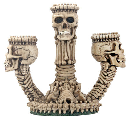 Ossuary Skeleton Triple Candle Holder