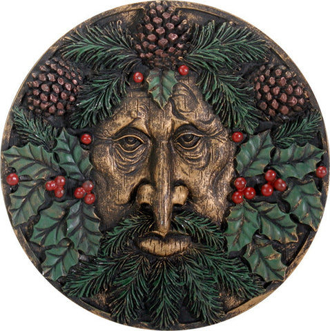 Greenman Plaque Winter