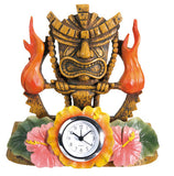 Tiki Fire Clock